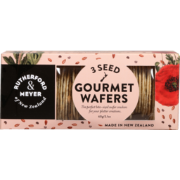 Photo of Rutherford & Meyer Gourmet Wafers Three Seeds 60g