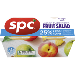 Photo of Spc Aussie Made Diced Fruit Salad 4 Pack X 120g