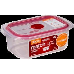 Photo of Decor Match Ups Container Oblong Slt Clip 2l