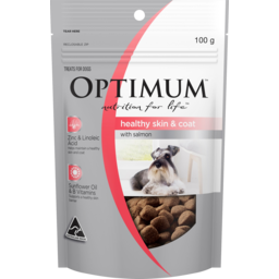 Photo of Optimum Nutrition For Life Healthy Skin & Coat With Salmon Dog Treat 100g