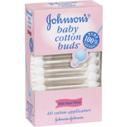 Photo of Johnsons Baby Cotton Buds 60 Cotton Applicators