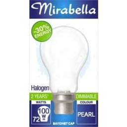 Photo of Mirabella Energy Saver Halogen Clear Bayonet Cap 72w
