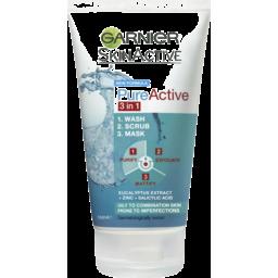 Photo of Garnier Pure Active 3 In 1 Wash, Scrub & Mask