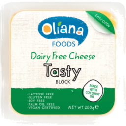 Photo of Oliana Dairy Free Tasty Cheese Block 200gm