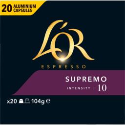 Photo of Lor Espresso Supremo Intensity 10 Coffee Capsules 20 Pack 104g