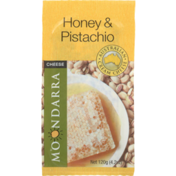 Photo of Moondarra Flavoured Cheese Honey & Pistachio 120g