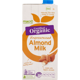 Photo of Macro Organic Almond Milk Unsweetened 1L
