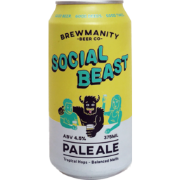 Photo of Brewmanity Social Beast Can 375ml