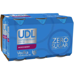 Photo of Udl Vodka Mixed Berry Sugar Free 4% 375ml 6 Pack