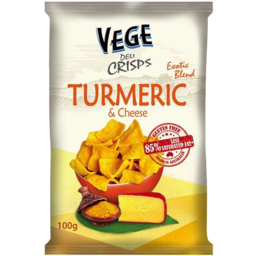 Photo of Vege Deli Crisps Turmeric And Cheese 100g