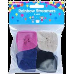 Photo of Korbond Rainbow Streamers 6pk