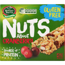 Photo of Mother Earth Nuts About Nut Bars Cranberry 5 Pack