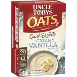 Photo of Uncle Tobys Oats Quick Sachets Creamy Vanilla 420g