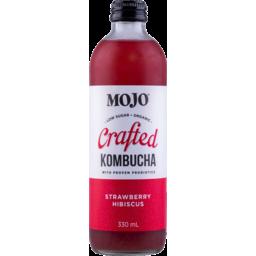 Photo of Mojo Crafted Kombucha Strawberry Hibiscus 330ml