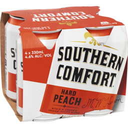 Photo of Southern Comfort Hard Peach 330ml 4 Pack