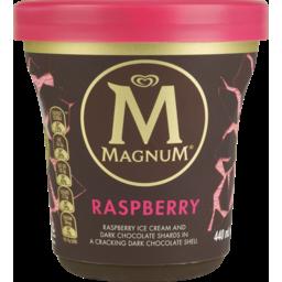 Photo of Magnum Tub Ice Cream Dark Chocolate Raspberry 440ml