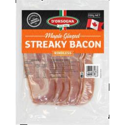 Photo of Dorsogna Maple Glazed Streaky Bacon 200gm