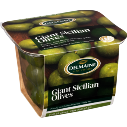 Photo of Delmaine Antipasto Giant Sicilian Olives 160g