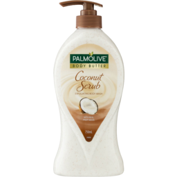 Photo of Palmolive Body Butter Coconut Scrub Exfoliating Body Wash With Real Fruit Seeds Recyclable 750ml