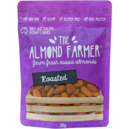 Photo of The Almond Farmer Gluten Free Roasted Almonds 200g