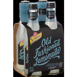 Photo of Schweppes Old Fashioned Lemonade 4 x 330ml Multipack Soft Drink Glass Bottles