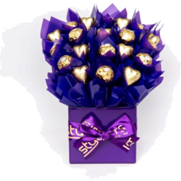 Photo of Cad Gold Heart Bouquet