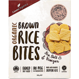 Photo of Ceres Organics Brown Rice Bites - Sea Salt & Vinegar