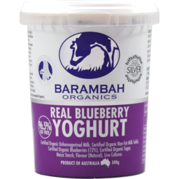 Photo of Barambah Organics Real Blueberry Yoghurt