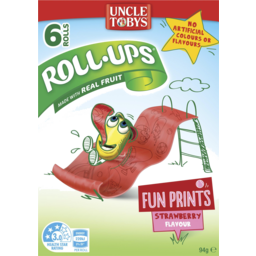 Photo of Uncle Tobys Strawberry Flavour Roll Ups 6 Pack 94g