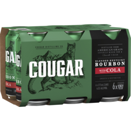 Photo of Cougar Bourbon & Cola Can 6 Pack
