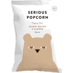 Photo of Serious Food Co Organic Peanut Butter & Almond Popcorn