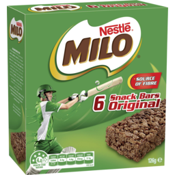 Photo of Milo Snack Bars Original 6 Pack