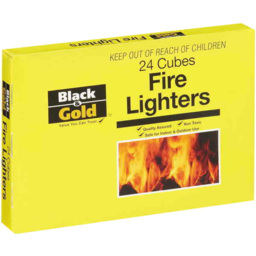Photo of Black & Gold Fire Lighters 24 Cubes