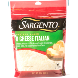 Photo of Sargento Chef Blends 6 Cheese Italian