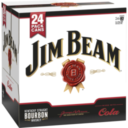 Photo of Jim Beam White & Cola Cans 24x375ml