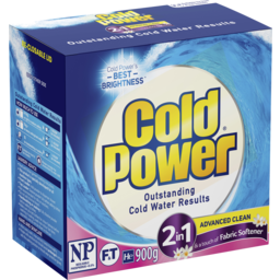 Photo of Cold Power 2 In 1 Softener, Washing Powder Laundry Detergent, 900g