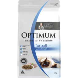 Photo of Optimum Furball Dry Cat Food With Chicken 2kg Bag
