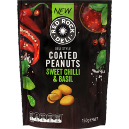 Photo of Red Rock Deli Coated Peanuts Sweet Chilli & Basil 150g