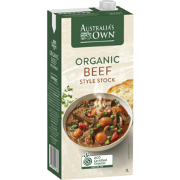 Photo of Australia's Own Organic Beef Style Stock 1L