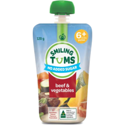 Photo of WW Smiling Tums 6+mths Baby Food Beef & Vegetables 120g