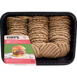 Photo of Tony's 46 BBQ Beef Patties 2346g