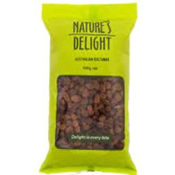 Photo of Natures Delight Sultanas 500gm