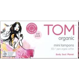 Photo of Tom Organic Mini Tampons 2x8pk