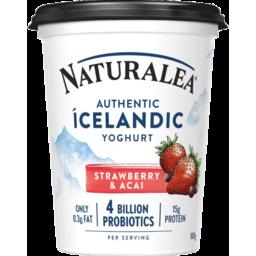 Photo of Naturalea Authentic Icelandic Yoghurt Tub Strawberry & Acai 500g