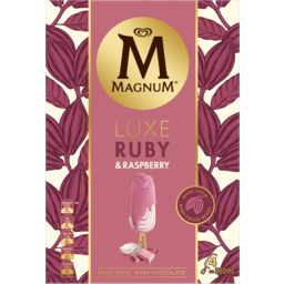 Photo of Streets Magnum Luxe Ruby & Raspberry Ice Creams 4 Pack 360ml