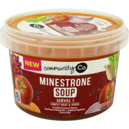 Photo of Community Co Soup Minestrone 300gm