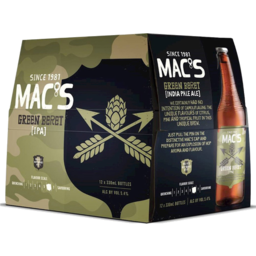 Photo of Mac's Green Beret IPA 330ml Bottles 12 Pack