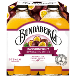 Photo of Bundaberg Passionfruit Sparkling Drink 4x375ml Bottles