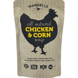 Photo of Hansells Soup Pouch Chicken & Corn 400g