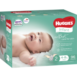 Photo of Huggies Infant Nappies Size 2 (4-8kg) 96 Pack (Jumbo)